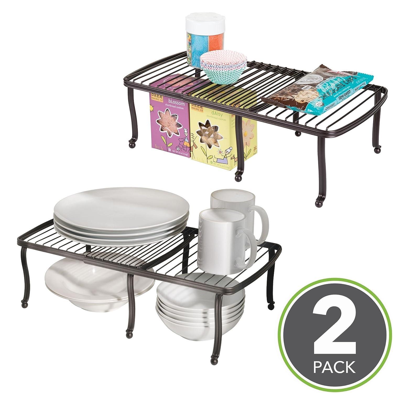 mDesign Tellerregal – Küchenregal für Arbeitsplatte und ...