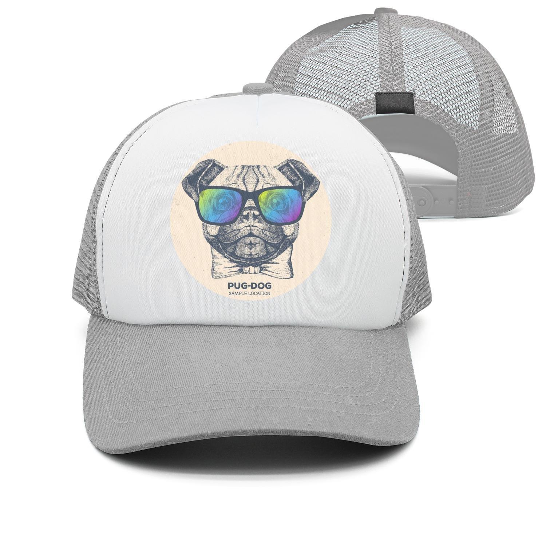 seventtynine Pug Dog Pugs Sunglasses Unisex Trucker Hats Summer Hats Mesh Hats