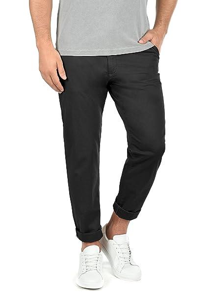 0d7973e4c9e24 !Solid Machico Pantalón Chino Pantalones De Tela para Hombre con Cinturón  Elástico Regular-Fit  Amazon.es  Ropa y accesorios