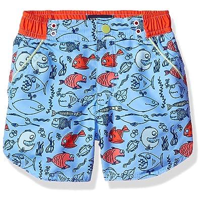 Andy   Evan Baby Boys  Fish Print Swimsuit-Infant 94d460de4565