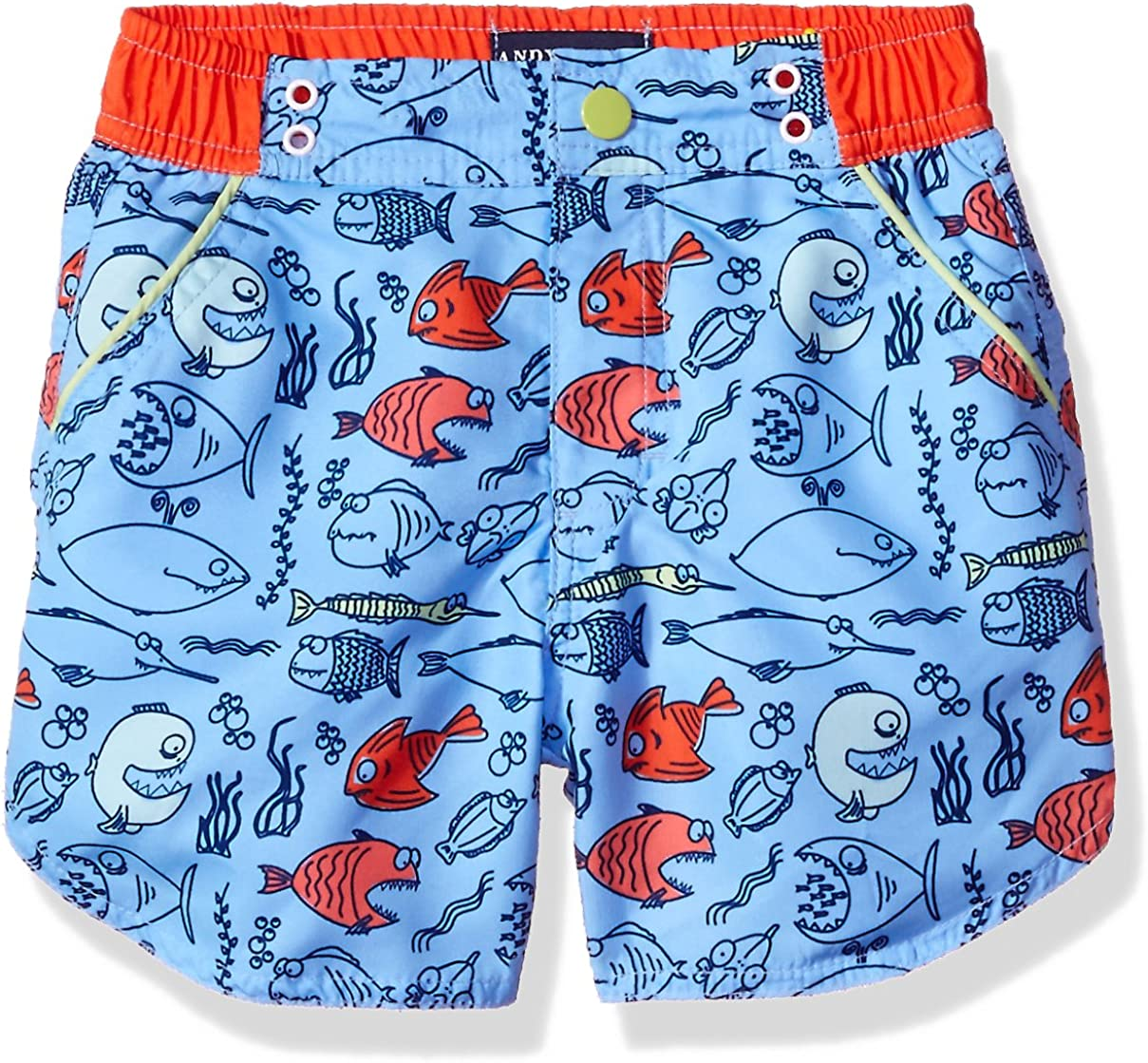 Andy /& Evan Boys Fish Print Swimsuit-Infant