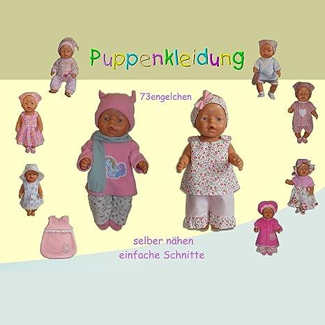 Schnittmuster Puppenkleidung selber nähen Baby Puppen 43cm: Amazon ...