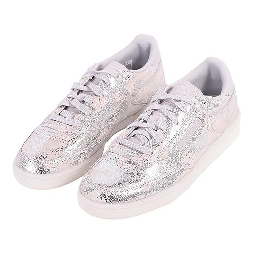 Amazon.com  Reebok Club C 85 Hype Womens Sneakers Metallic  Clothing 145ee2758