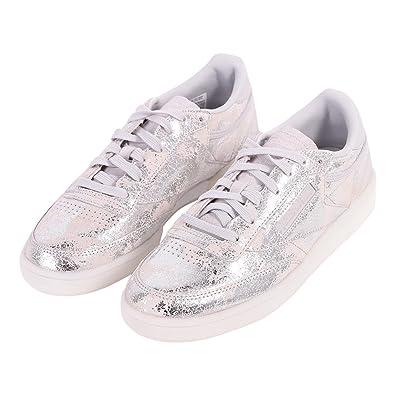 c027b8e264ac4 Chaussures Reebok - Club C 85 Textural argenté gris blanc taille  38 ...