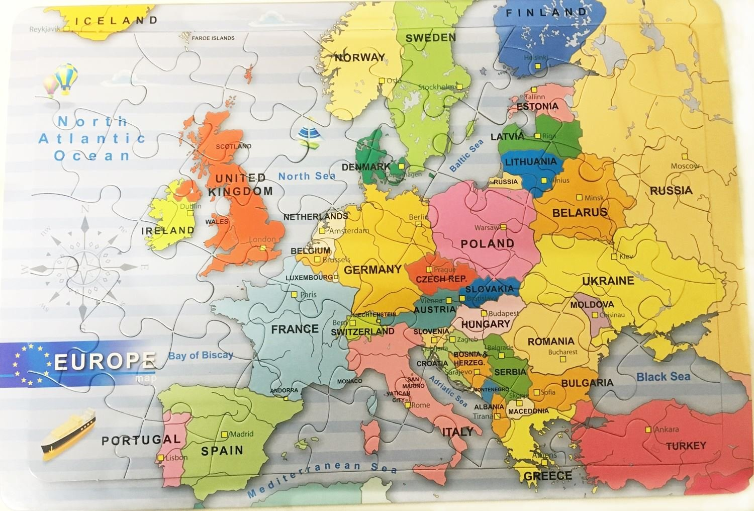 Jigsaw Puzzle Europe Map Kids Gift Play Party Bag Filler