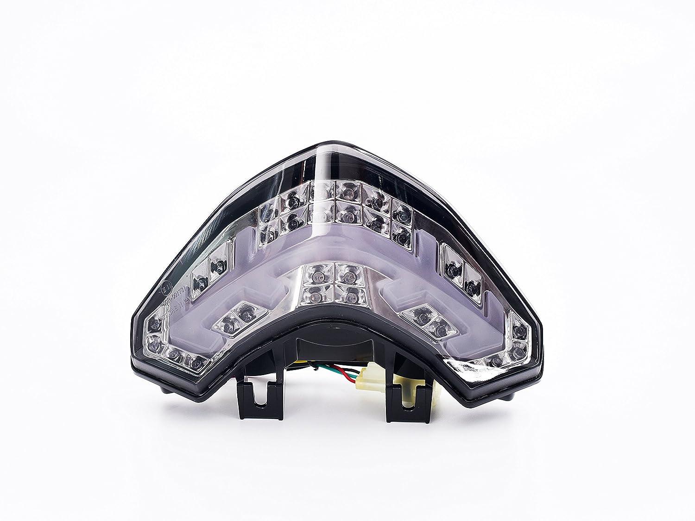 Topzone Lightings verres fumés moto LED feu arrière frein feu avec indicateurs de direction intégré pour Ducati 2010-2014 Multistrada 1200 dingdong