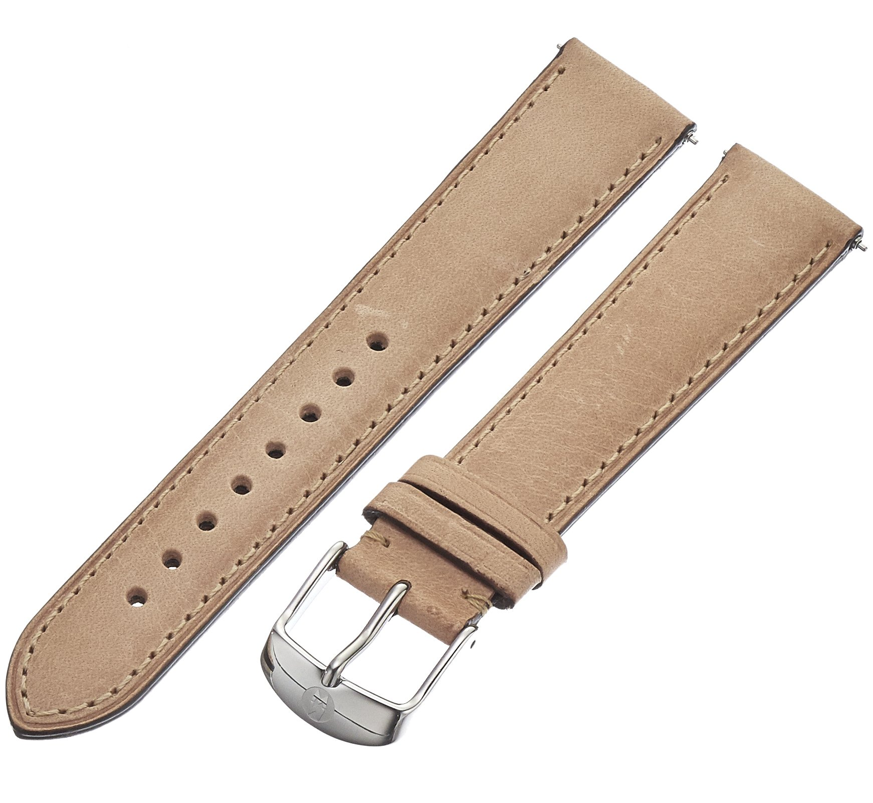 MICHELE Women's 18mm Genuine Leather Watch Band Color: Tan (Model: MS18AA270231)