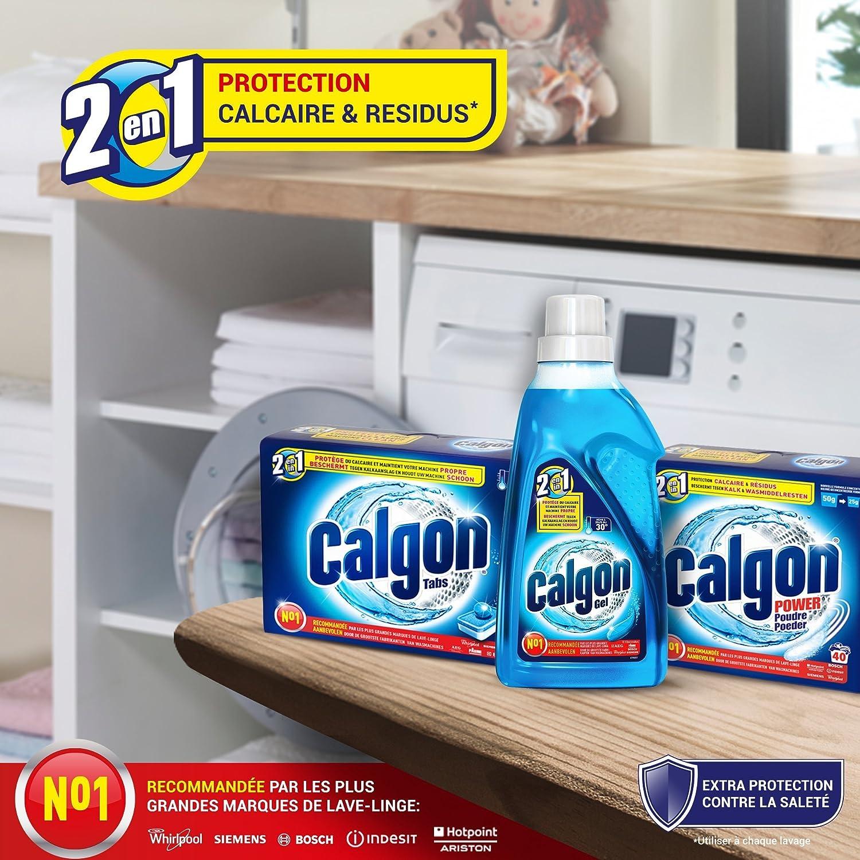 Calgon Tablettes 36en36 anti-calcaire pour le lave-linge x36: Amazon ... - Produit Pour Nettoyer Lave Linge