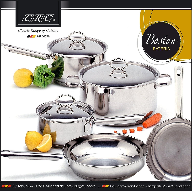 FranquiHOgar Batería de Cocina Boston de Acero Inoxidable compuesta por 8 Piezas.: Amazon.es: Hogar