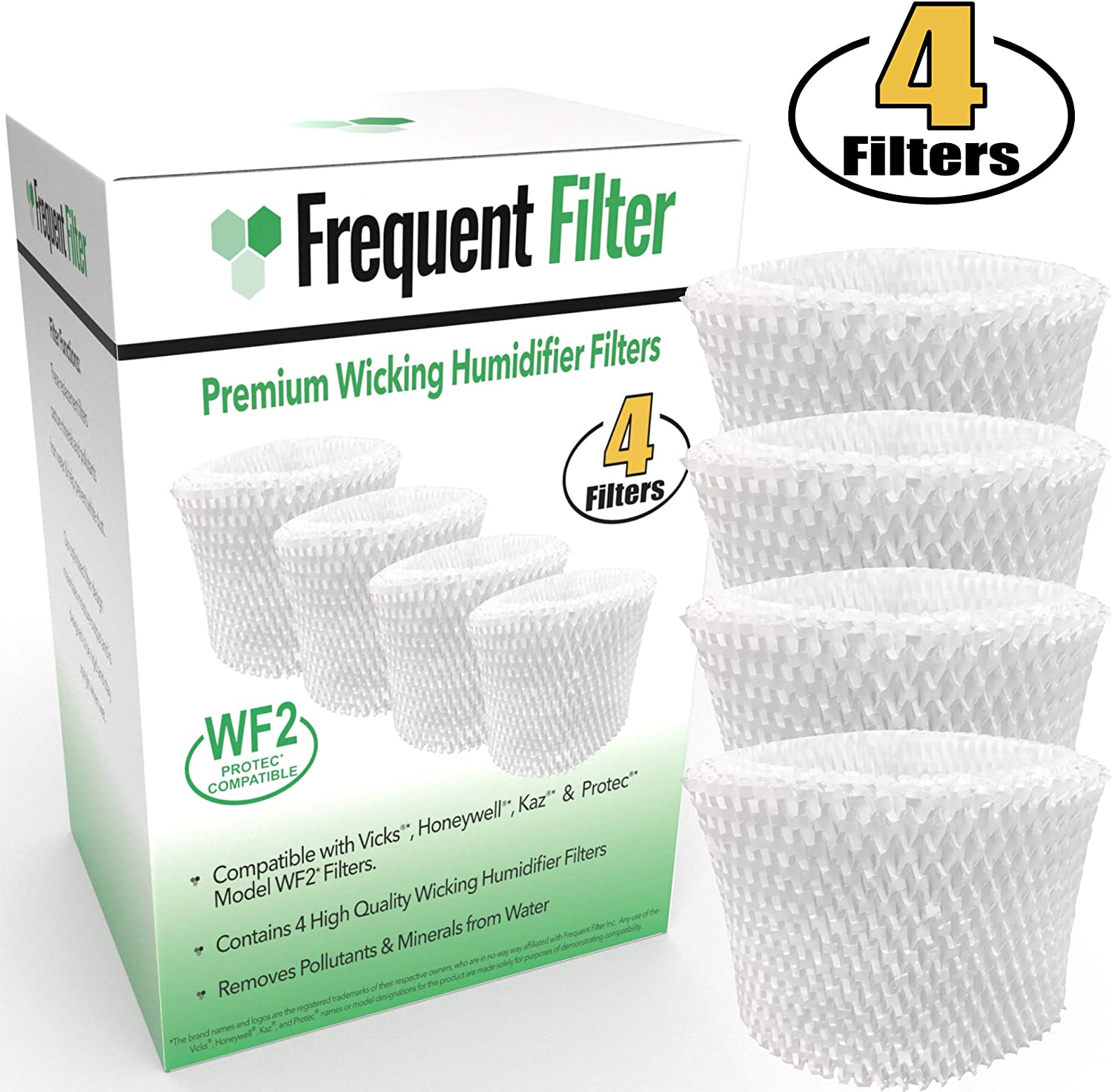Frequent Filter Vicks & Kaz Compatible Protec WF2 Humidifier Filter (Pack of 2 Filters)