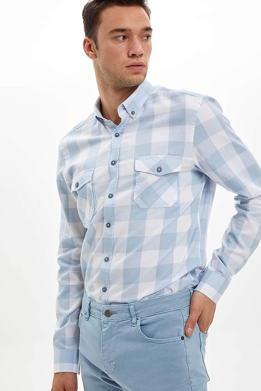 DeFacto L3582AZ - Camiseta de manga larga para hombre