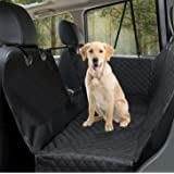 Dog Car Seat Cover Luxury Pet Seat Cover with Mesh Window, Side Flap, 4 straps, 600D Heavy Duty Waterproof Scratch Proof Nonslip Pet Seat Cover Hammock for Cars SUVs and Trucks