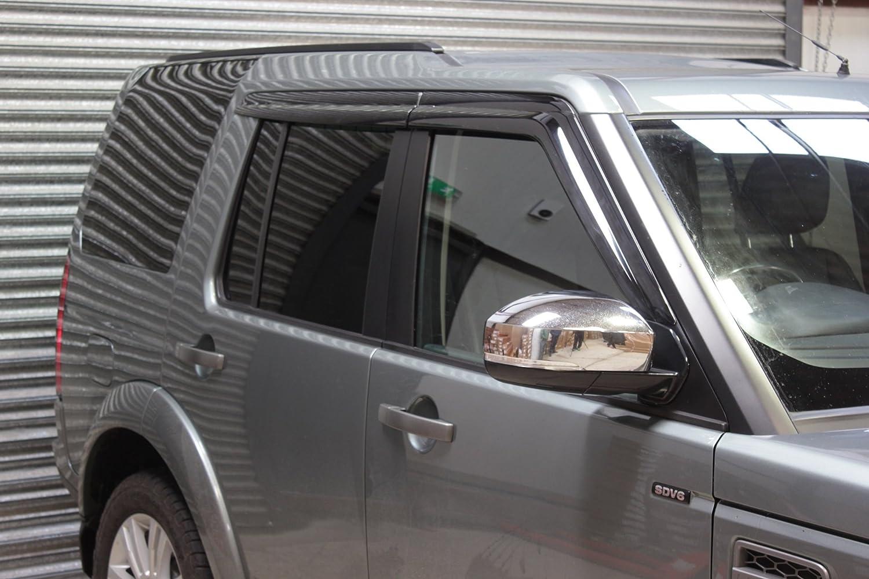 Para Land Rover Discovery 3 & 4 Deflectores de viento Set (4 piezas) (ahumado) Autoclover