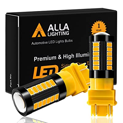 Alla Lighting 2800lm 3156 3157 LED Lights Bulbs Xtreme Super Bright 12V 5730 33-SMD Dual Turn Signal Blinker Lights Replacement T25 3056 3157NAK 4157 3457K 3757, Amber Yellow: Automotive