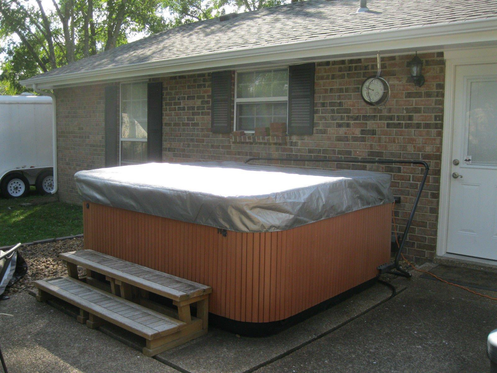 Spa Hot Tub Cover Cap SunShield Fits JACUZZI J Premium 84 x 84 Protector Video