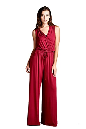 c4287e7cc037 Amazon.com: On Trend Black and Bohemian Print Pantsuit (Small, Wine):  Clothing