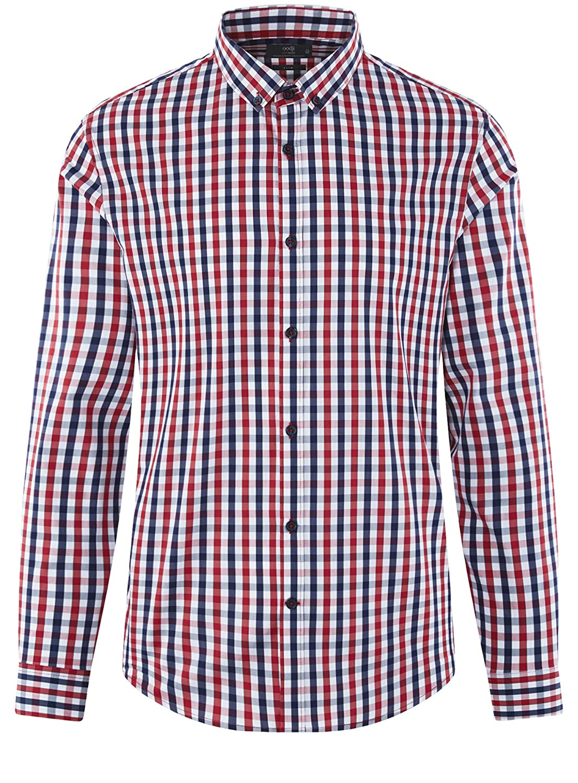 oodji Ultra Mens Long Sleeve Checkered Shirt