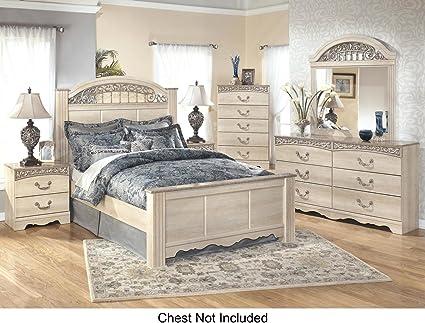Amazon.com: Catalina Queen Bedroom Set with Panel Bed Dresser Mirror ...