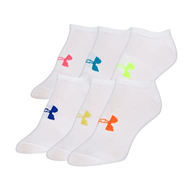cf6a9047b Under Armour Women's Ua Solid No Show Socks (Pack of 6): Amazon.co ...