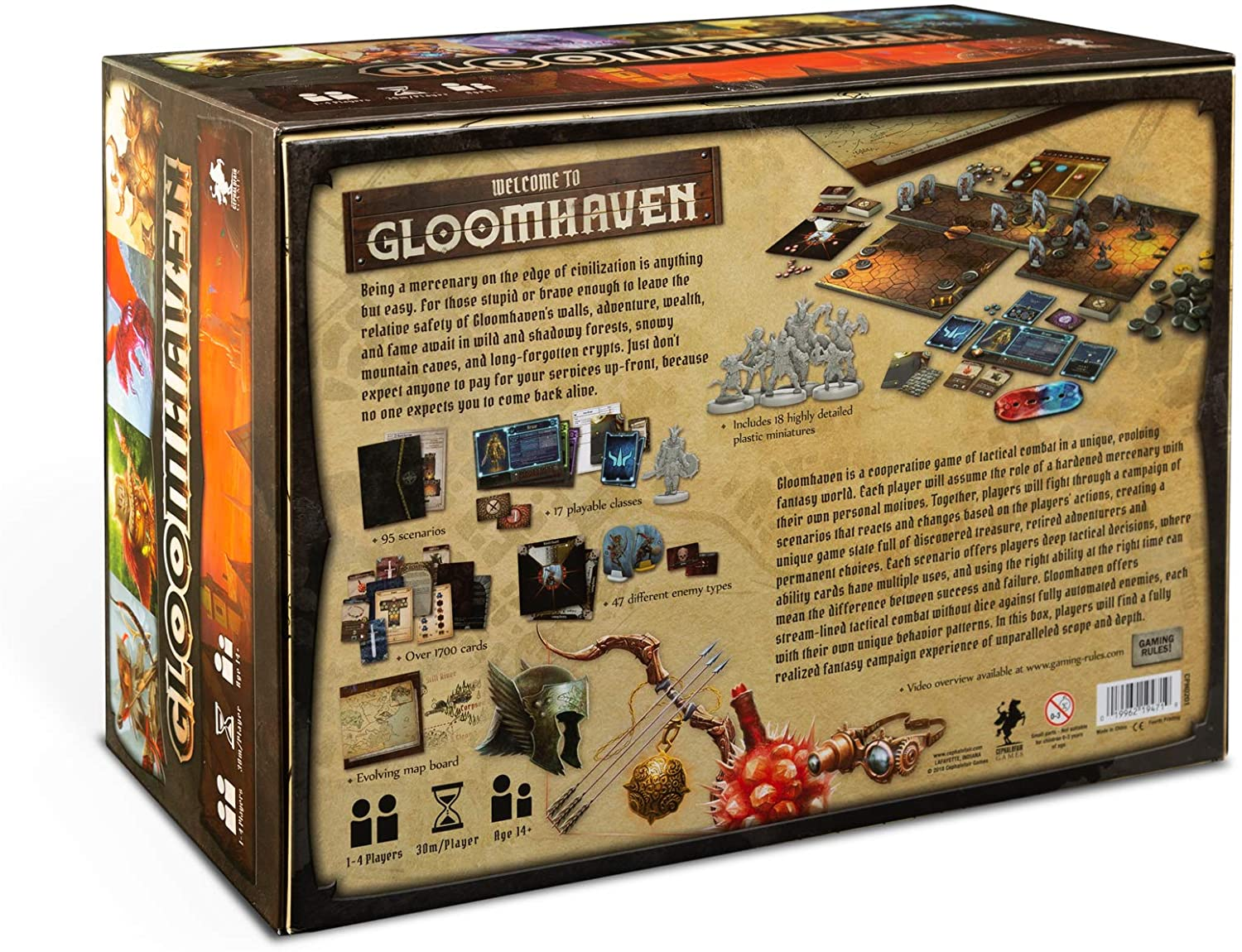 Gloomhaven Replacement Parts 20 Card Sleeved Player 4 Attack Deck