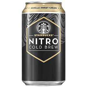 Starbucks Nitro Cold Brew, Vanilla Sweet Cream 9.6 Fl oz Can (8 Pack)