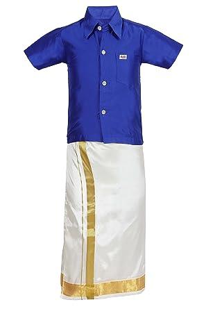 58ae6c7b1 Amazon.com  JISB Boys Shirt and Dhoti Set  Clothing