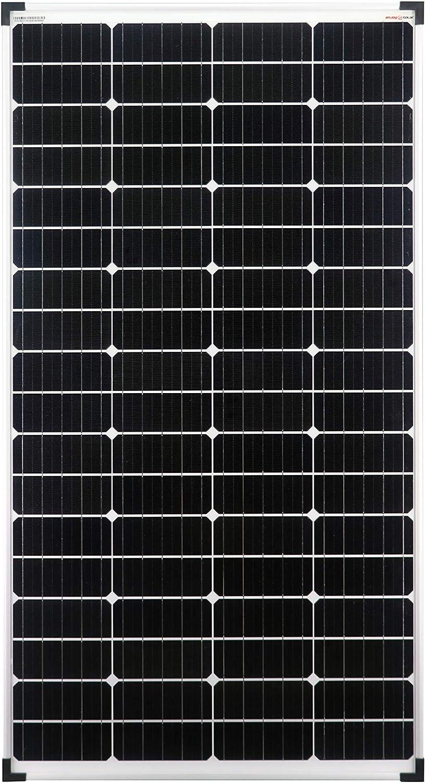 enjoysolar® Mono 140 W monocristalino Solarpanel Solarmodul 12 V ideal para Wohnmobil, Gartenhäuse, barco