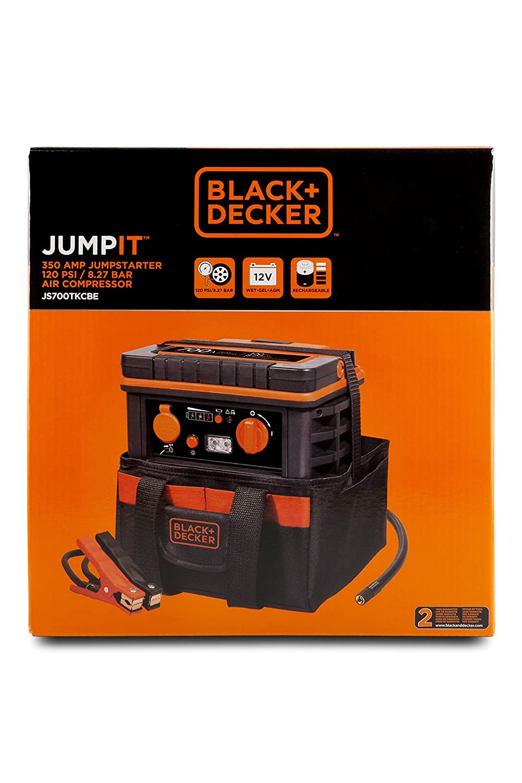 Black+Decker JS700TKCB Arrancador y Compresor de 350 A con Bolsa: Amazon.es: Coche y moto
