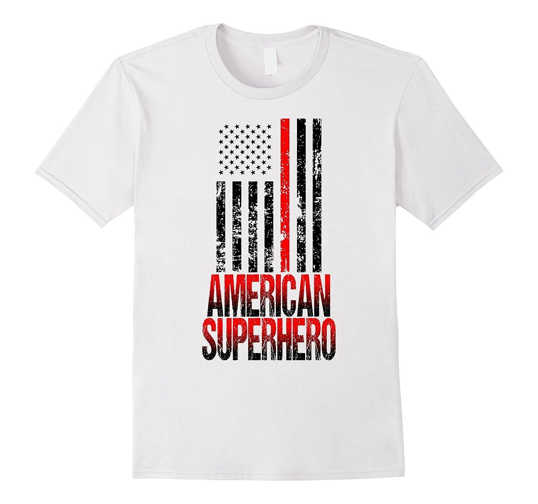 4th of July Firefighter T-shirt American Superhero-Vaci