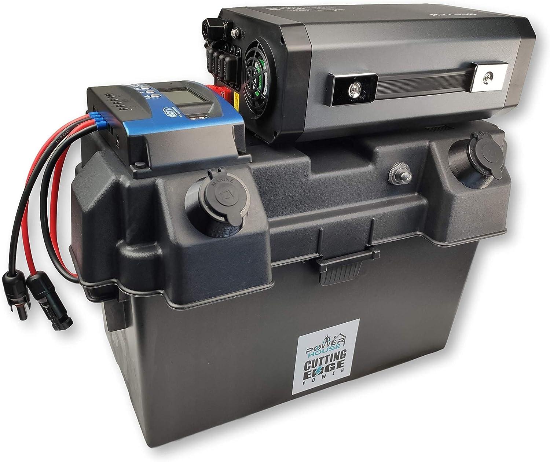 Cutting Edge Power 1KW Pure Sine Solar Generator, Portable Wind Solar Battery Box w Inverter: Garden & Outdoor