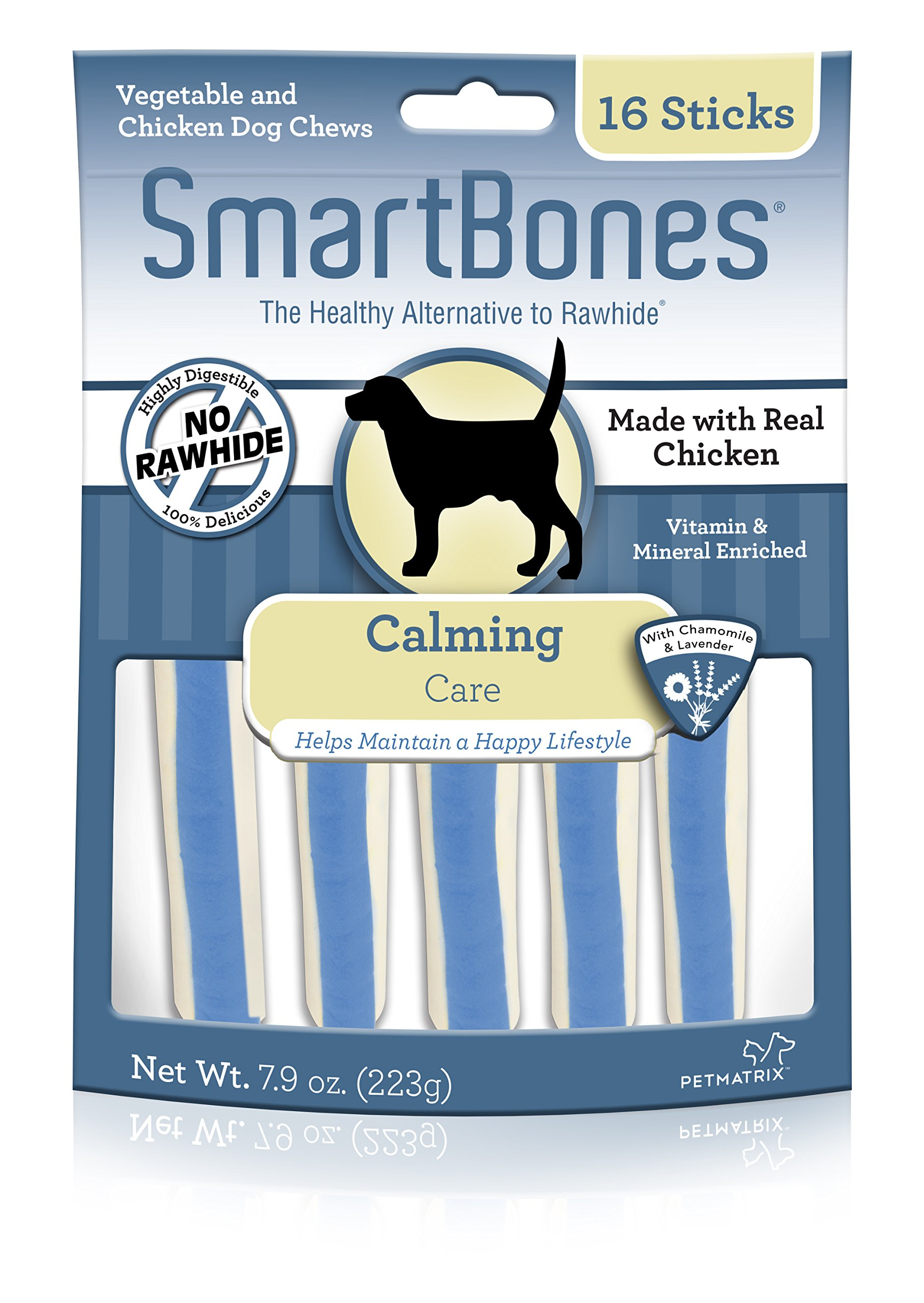 SmartBones Chicken Dog Chews Calming (16 Sticks)