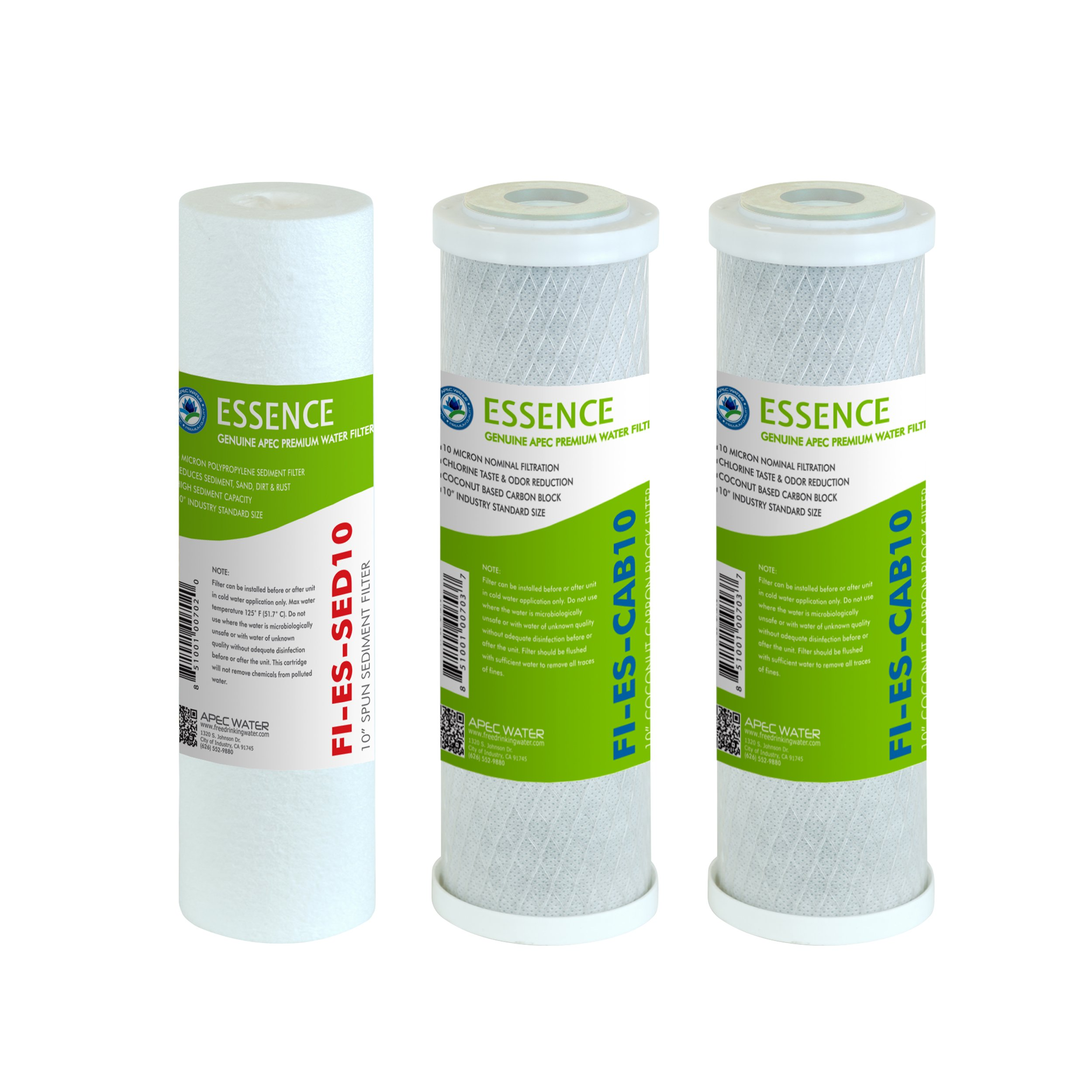 APEC Water Systems FILTER-SET-ES Apec Essence Series Stage 1, 2 & 3 Replacement Filter For Undersink System(Filter-Set-Es)