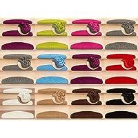 Kettelservice-Metzker Stufenmatten Shaggy New Halbrund in 10 Farben Einzeln und SparSet's