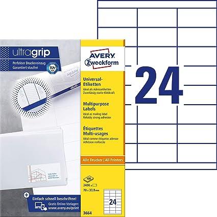 Avery España 3664 - Etiquetas ecológicas, color blanco: Amazon.es: Oficina y papelería