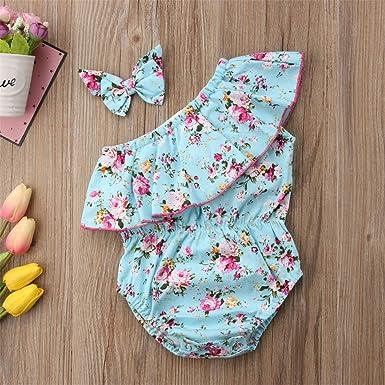 Toddler Baby Girls Bodysuit Short-Sleeve Onesie Hot Air Balloon Print Outfit Winter Pajamas