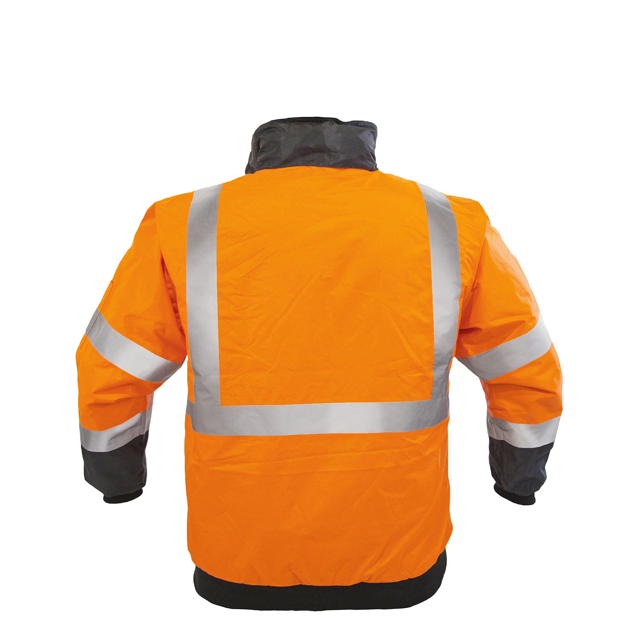 JORESTECH High Visibility Waterproof Bomber Jacket (3X-Large, Orange) by JORESTECH  (Image #5)