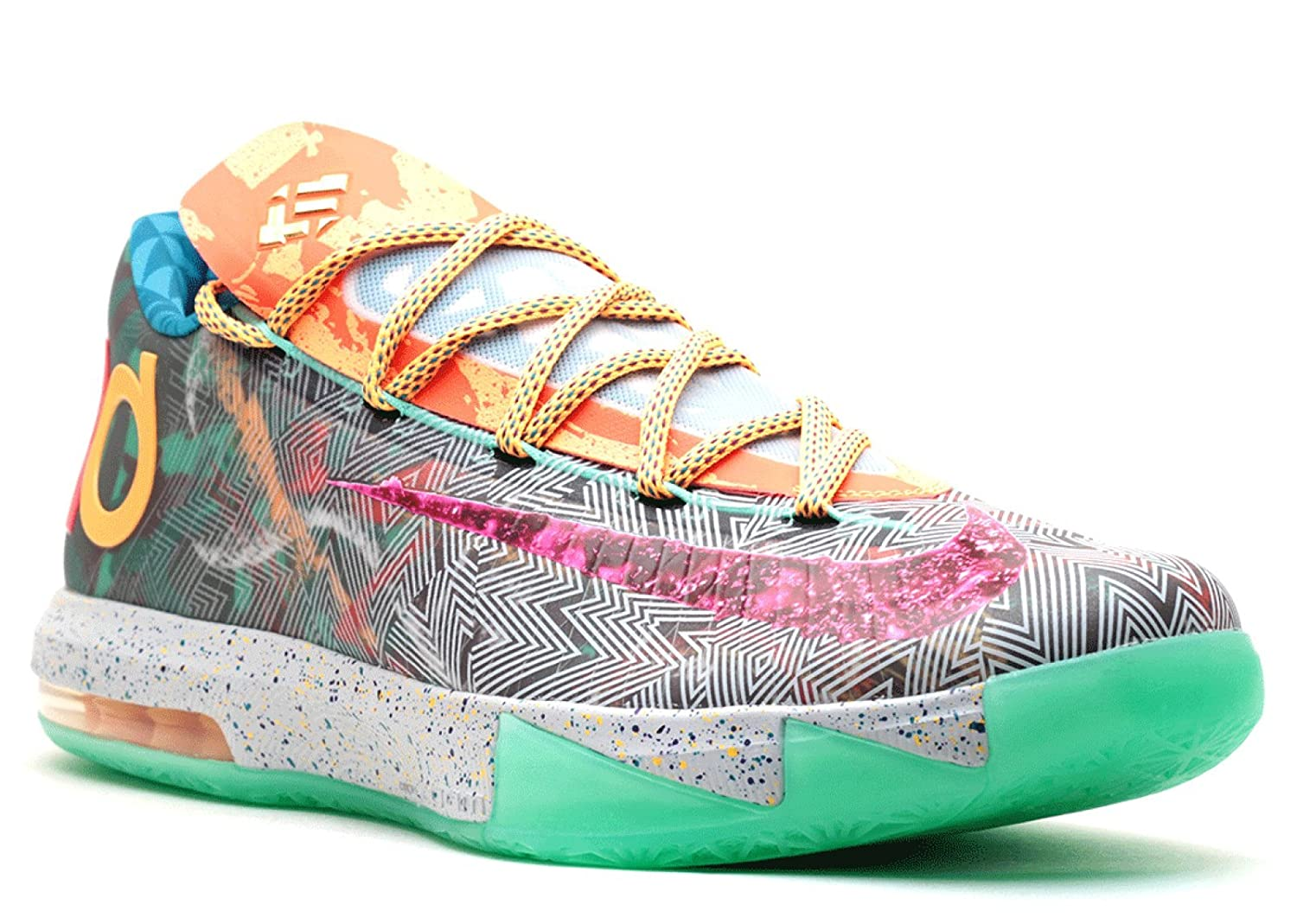 Nike Mens KD VI Premium What The KD Synthetic Basketball Shoes
