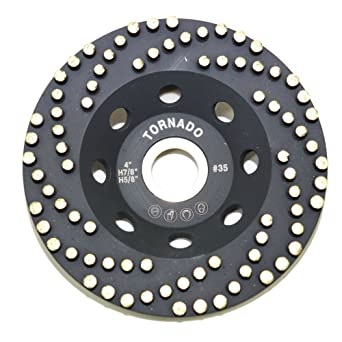 "Tornado 5/"" Diamond Cup Grinding Removing Disc Wheel with CDB Newest Technology"