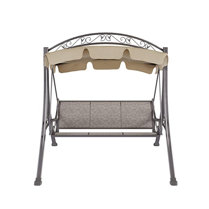 Corliving Pnt 803 S Nantucket Patio Swing With Arched Canopy In