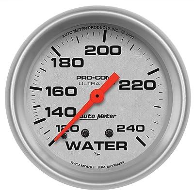 Auto Meter 4432 Ultra-Lite Mechanical Water Temperature Gauge: Automotive
