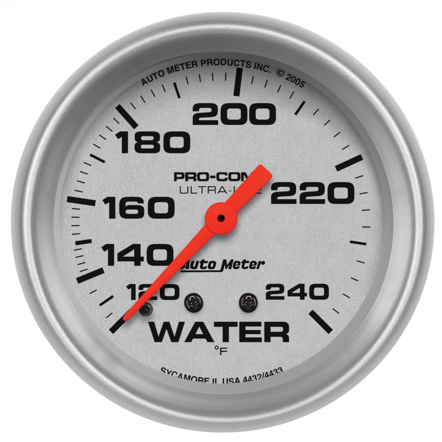 Auto Meter 4432 Ultra-Lite Mechanical Water Temperature Gauge by AUTO METER