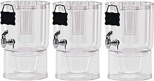 Buddeez 14401C-ONL Party Top New Beverage Dispenser, 1.75 gallon, Clear (3-Pack)