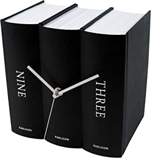 Karlsson Book Table Clock, Black