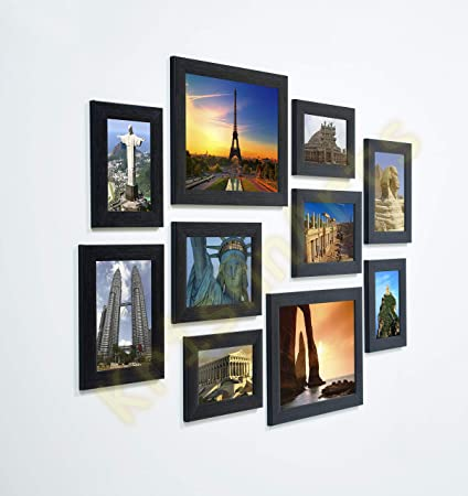 f71a13f3628 Buy KrishnArts Set of 10 Photo Frame in Black Colour