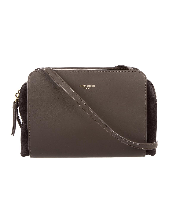 cacb50a4b0c Nina Ricci Marche Duo Taupe Leather Crossbody Handbag: Handbags: Amazon.com