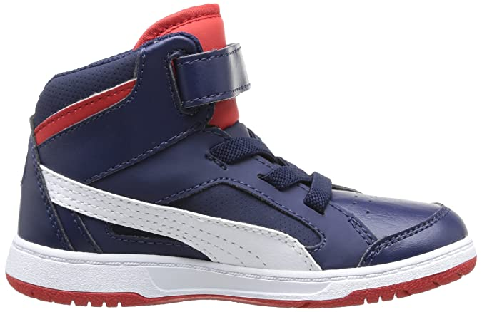 Puma Puma Rebound v2 Unisex Kinder Hohe Sneakers, Blau (Bleu