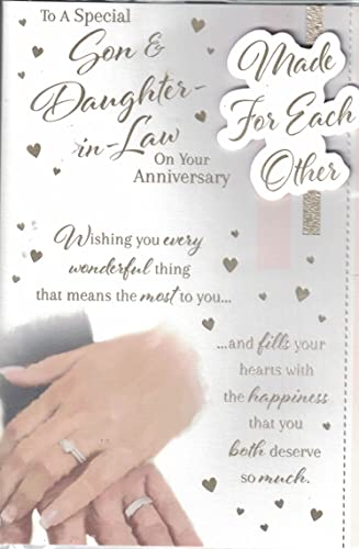 First Wedding Anniversary Gifts For Son And Daughter In Law: Son & Daughter In Law 1st Wedding Anniversary Card With