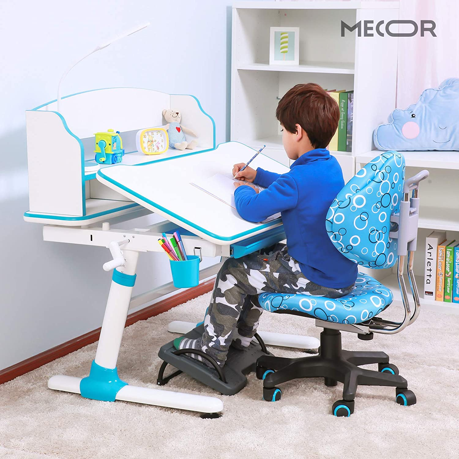 DMZing Kids Ergonomic Chair Comfortable Child Computer Chair for Study /& Computer Room Pink Three Gears Adjustable Chair for Girls Boys