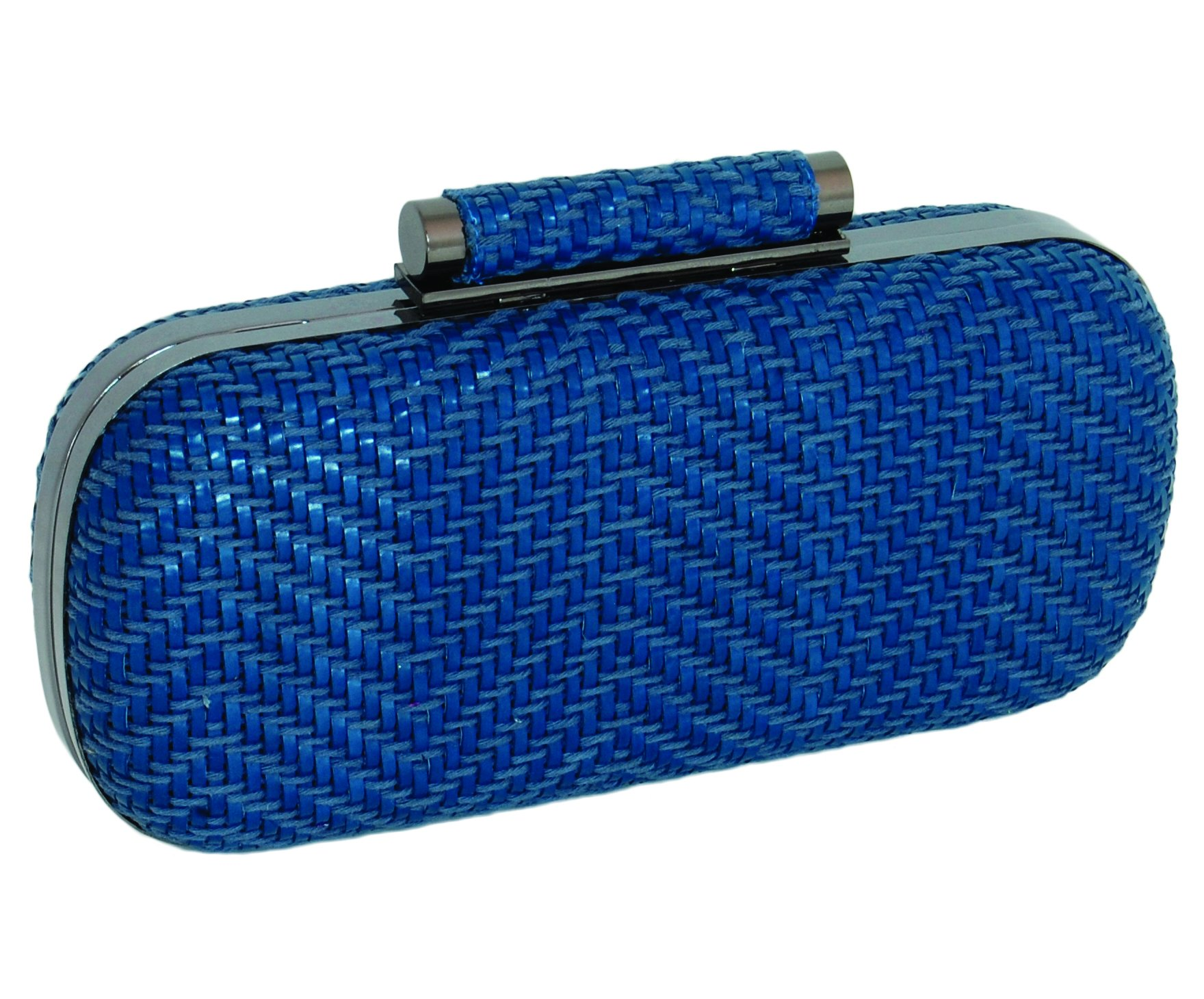 Inge Christopher Catalina Minaudiere Woven Clutch (Blue)