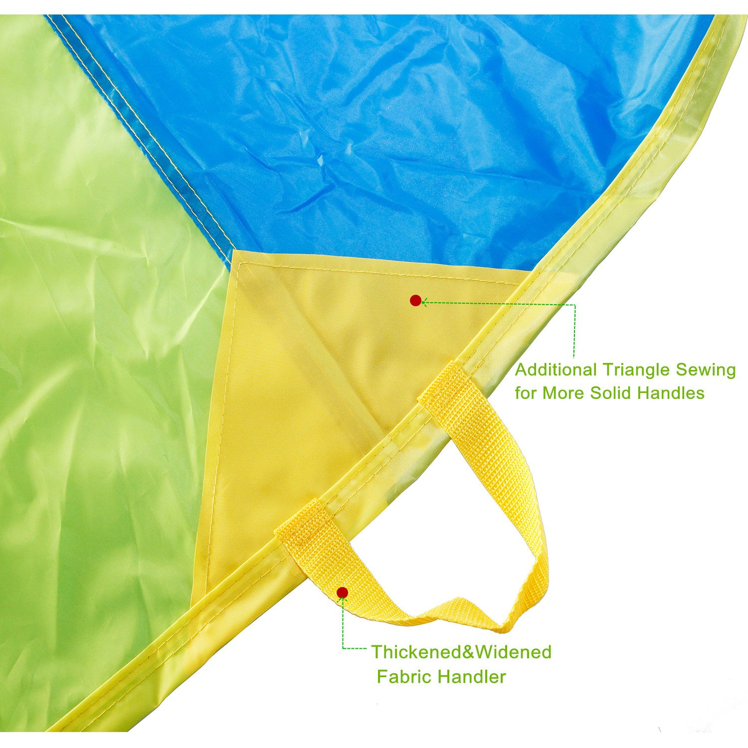 Sonyabecca Parachute, Play Parachute 20ft with 16 Handles for Kids Cooperation Group Play by Sonyabecca (Image #4)